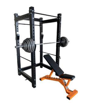 Power-Rack-Olympic-Barbell-Weights-Plates-Adjustable-Bench