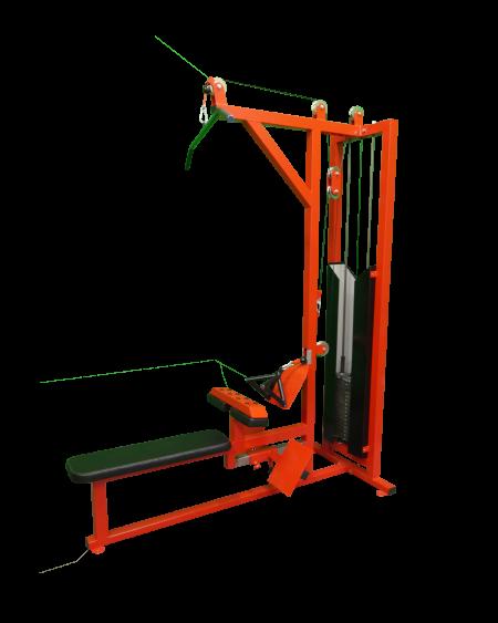 Lat-Pulldown-Seated-Row-Machine