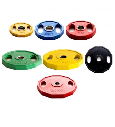 Plate Weights Rubber Coated Colored
